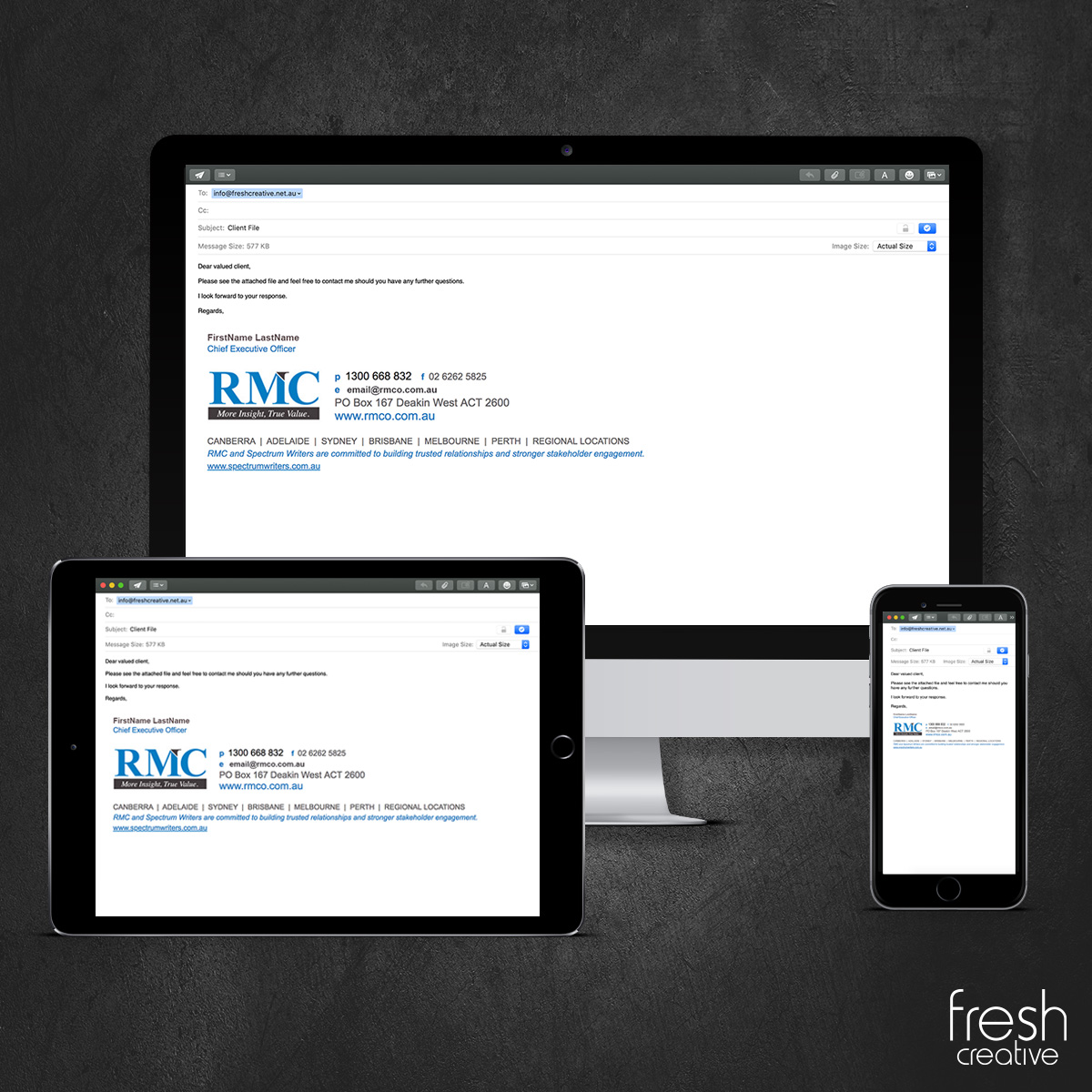 RMC Custom Email Signature Design Canberra
