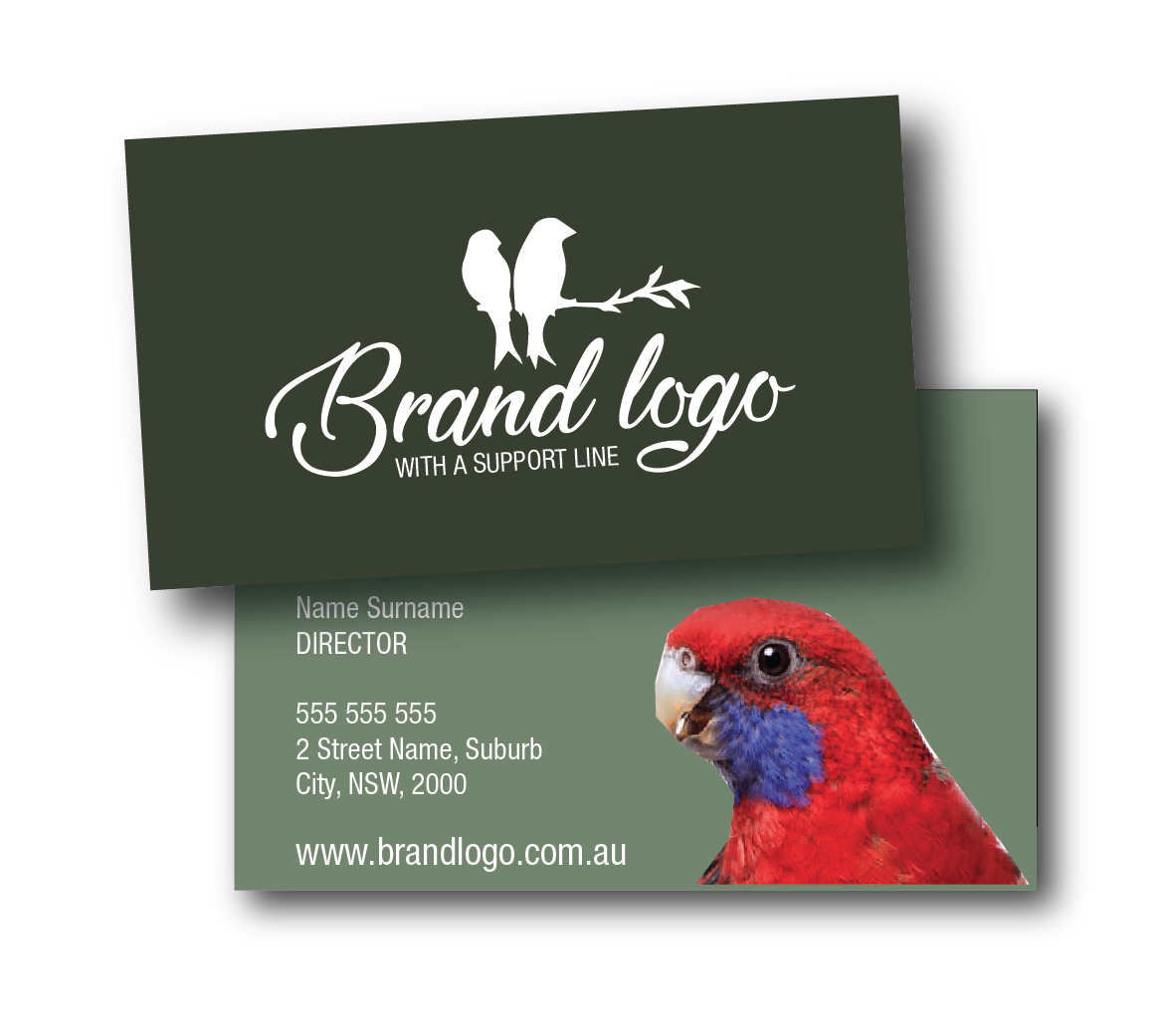 canberra business cards layout design