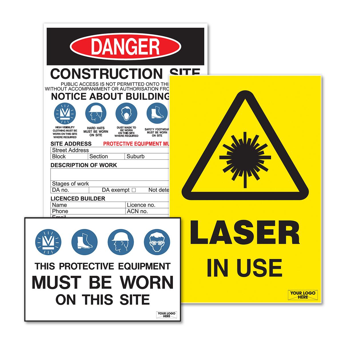 Corflute Building Site Signage