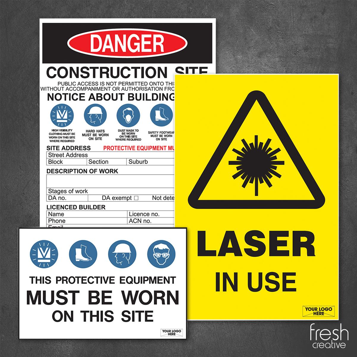 Custom Construction Site Signage Canberra