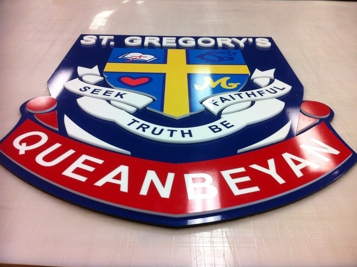 St Gregory's Queanbeyan Router Shaped Signage