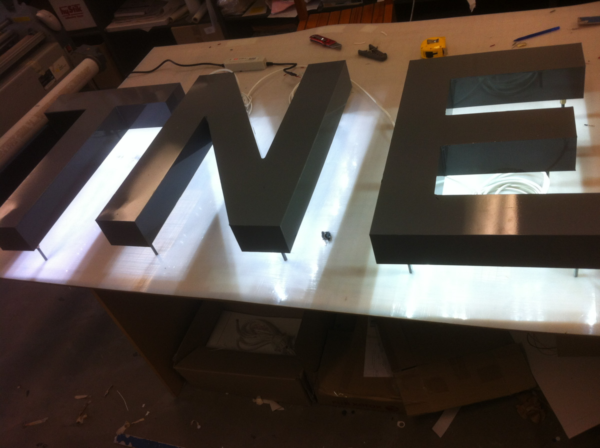 TNE 3D Fabricated Letters