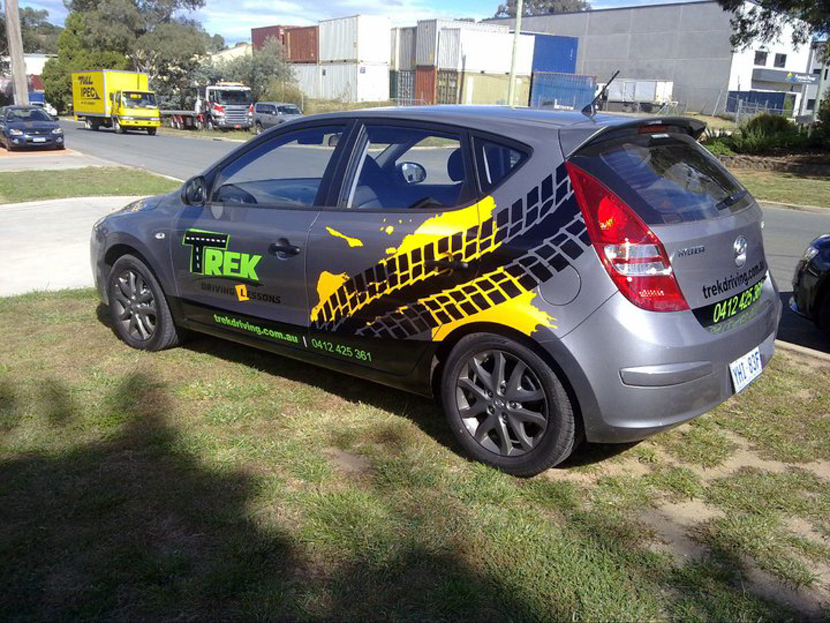 Trek Driving Canberra Vehicle Wrap