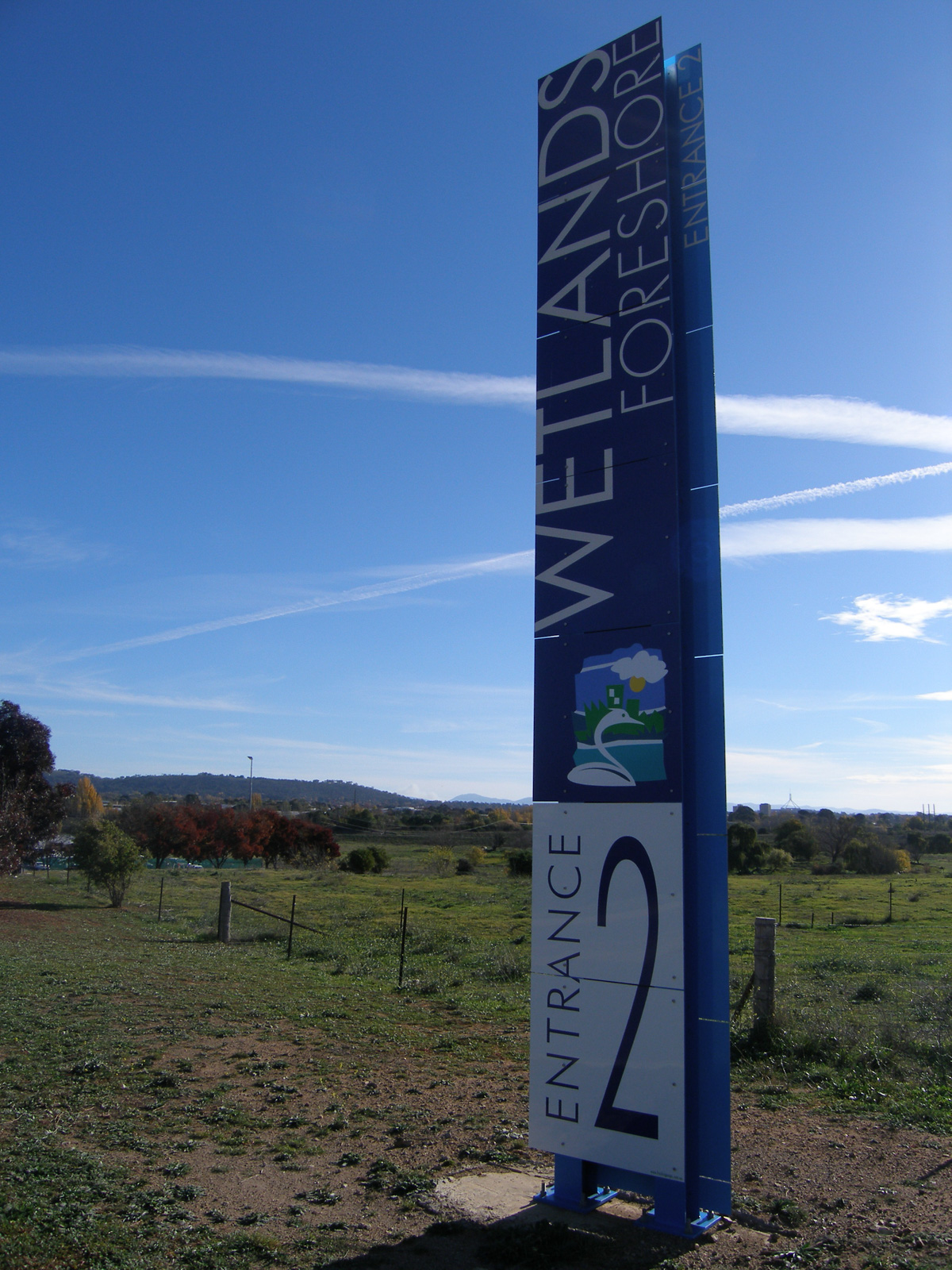 Wetlands Foreshore Canberra Sign