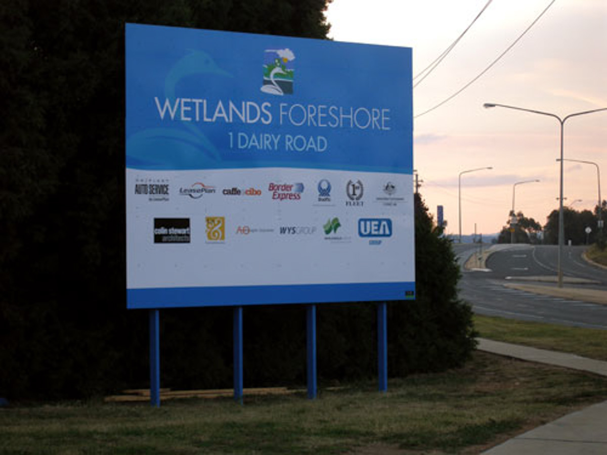 Wetlands Foreshore Construction Signs