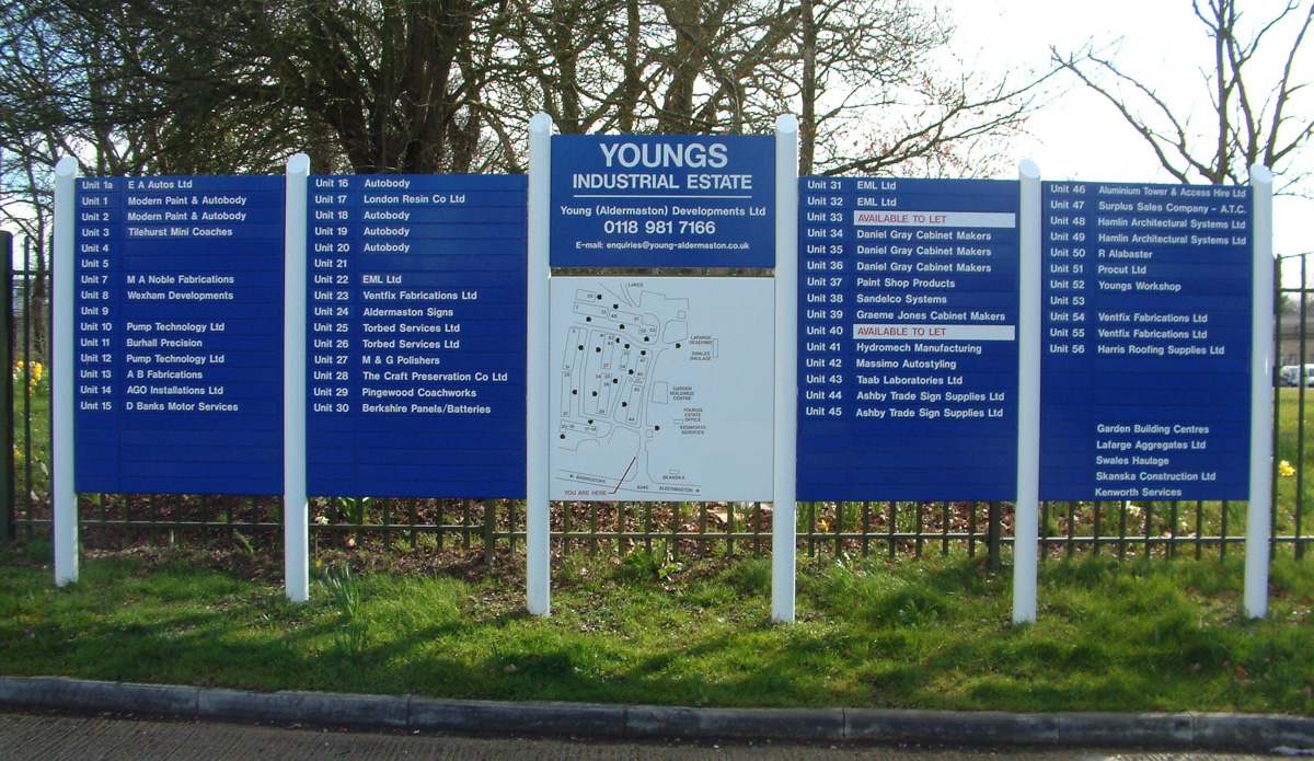 Young Industrial Estate Large Construction Signs