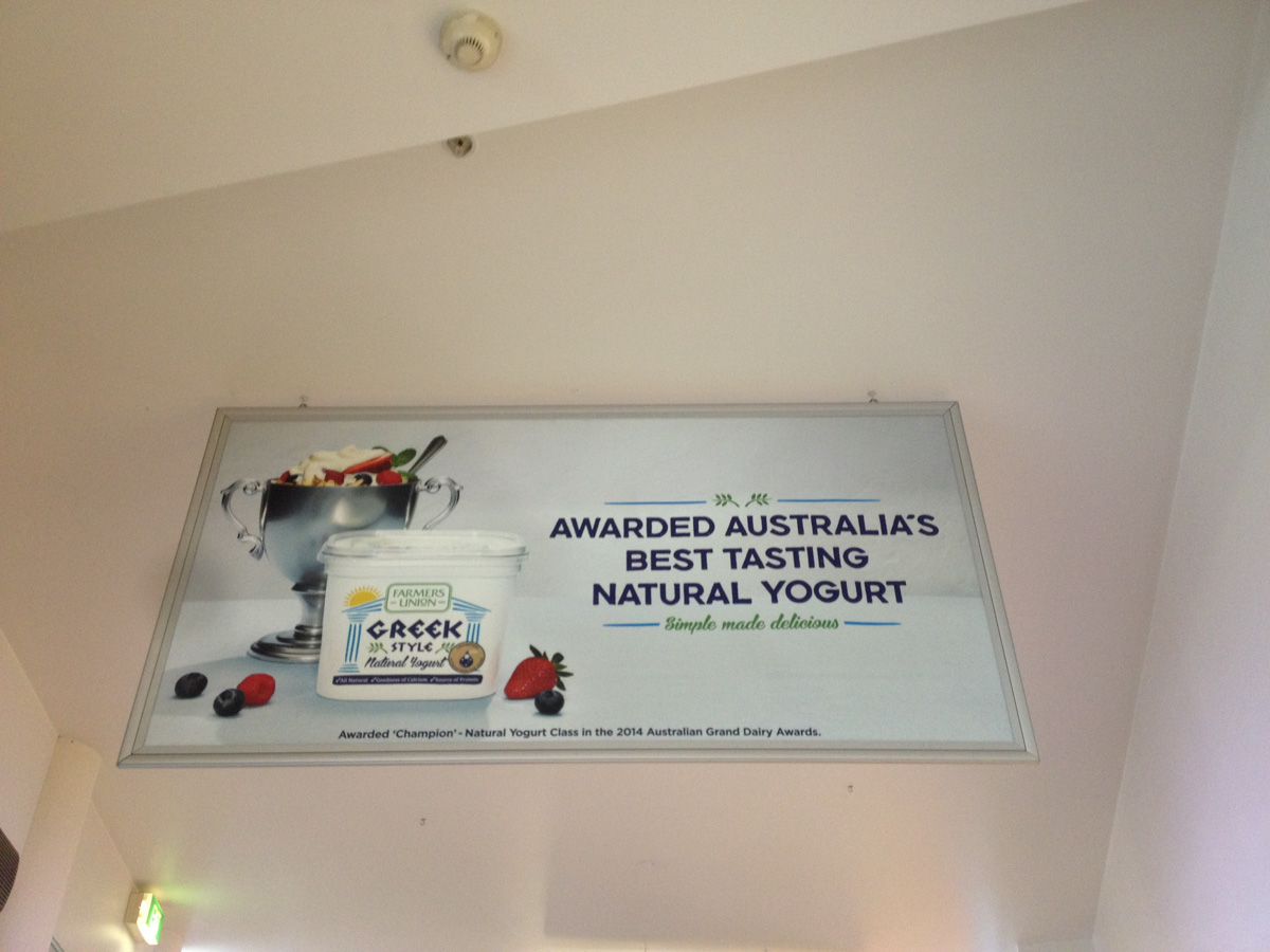 Yogurt signage