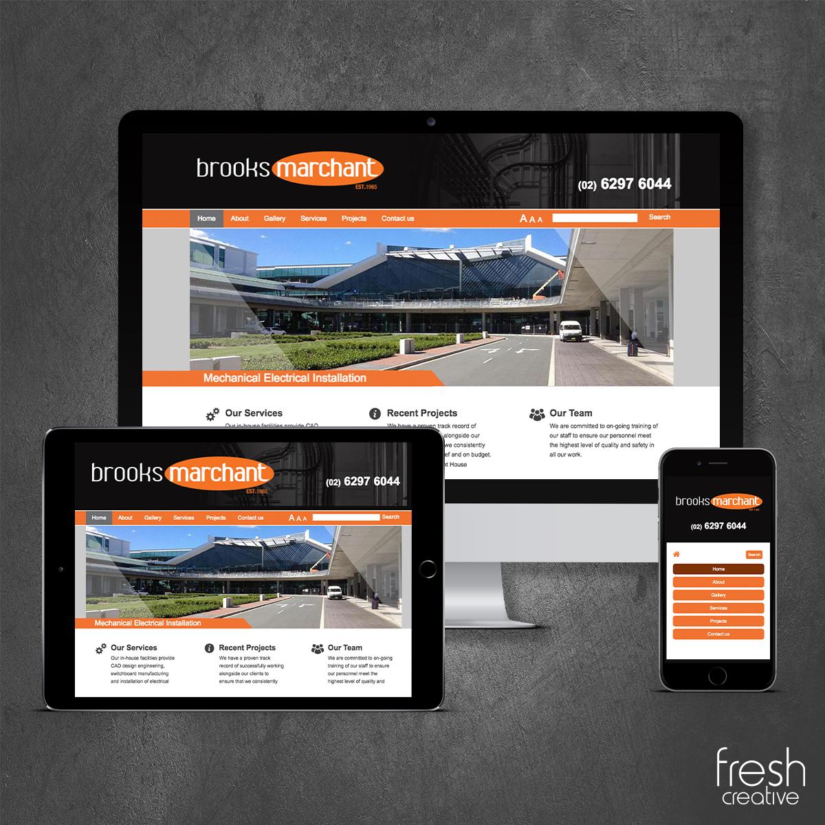 Brooks Marchant Website Design Canberra