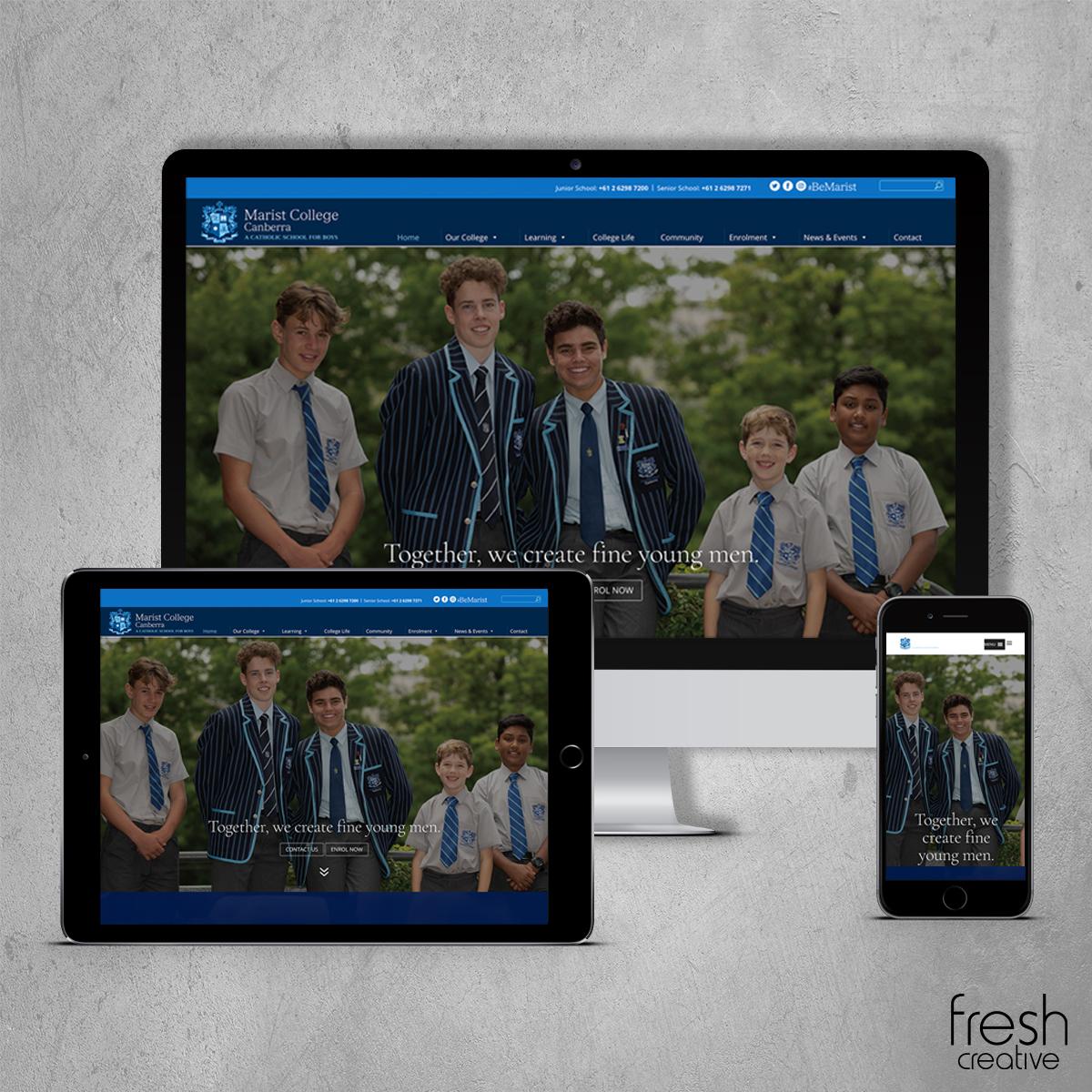 Marist College Canberra New Website
