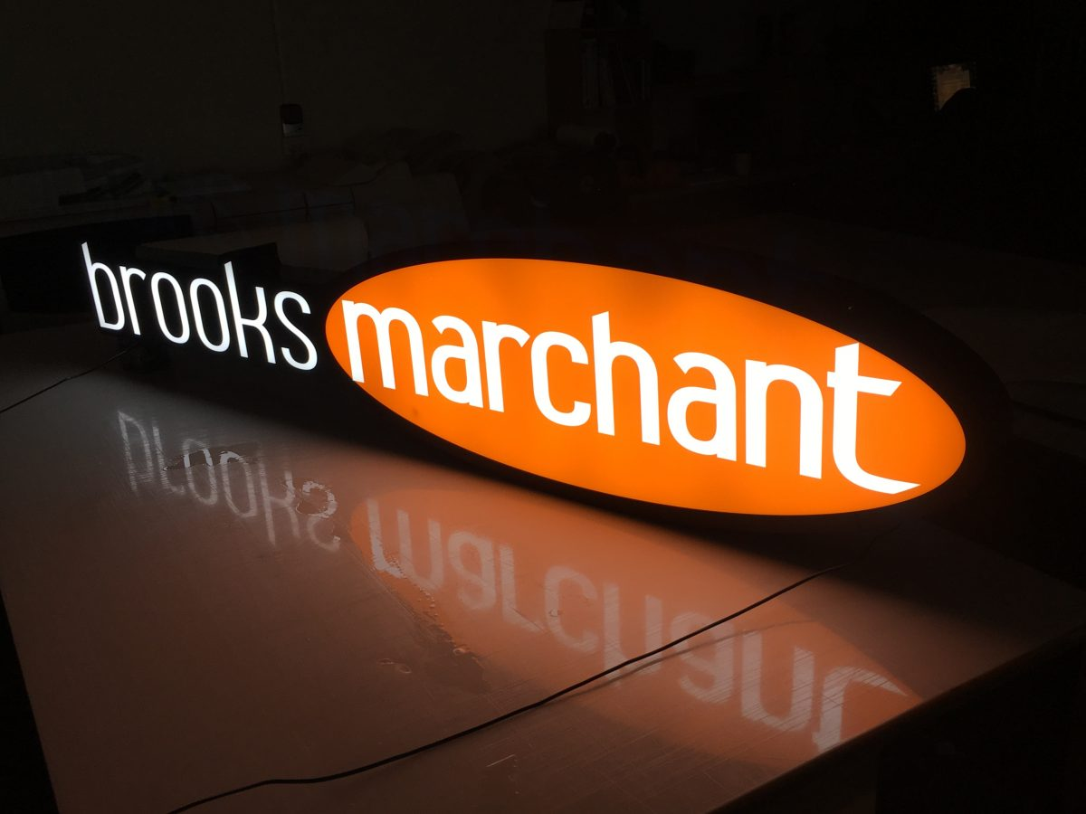 Custom 3D Illuminated Sign for Brooks Marchant