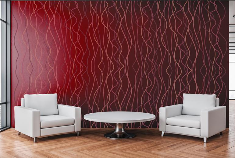 Custom wallpaper in an office