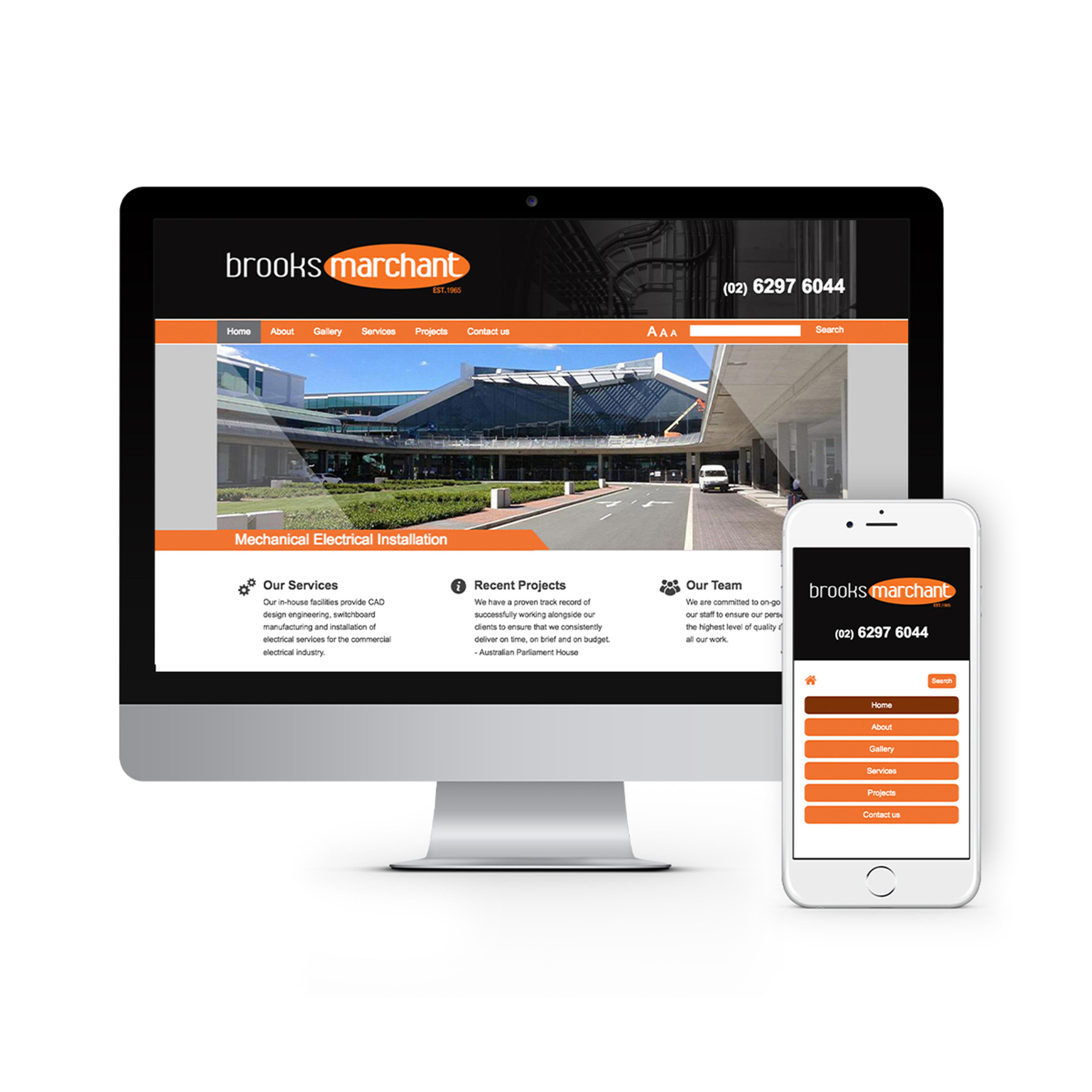 Brooks Marchant Canberra Website Design 2020