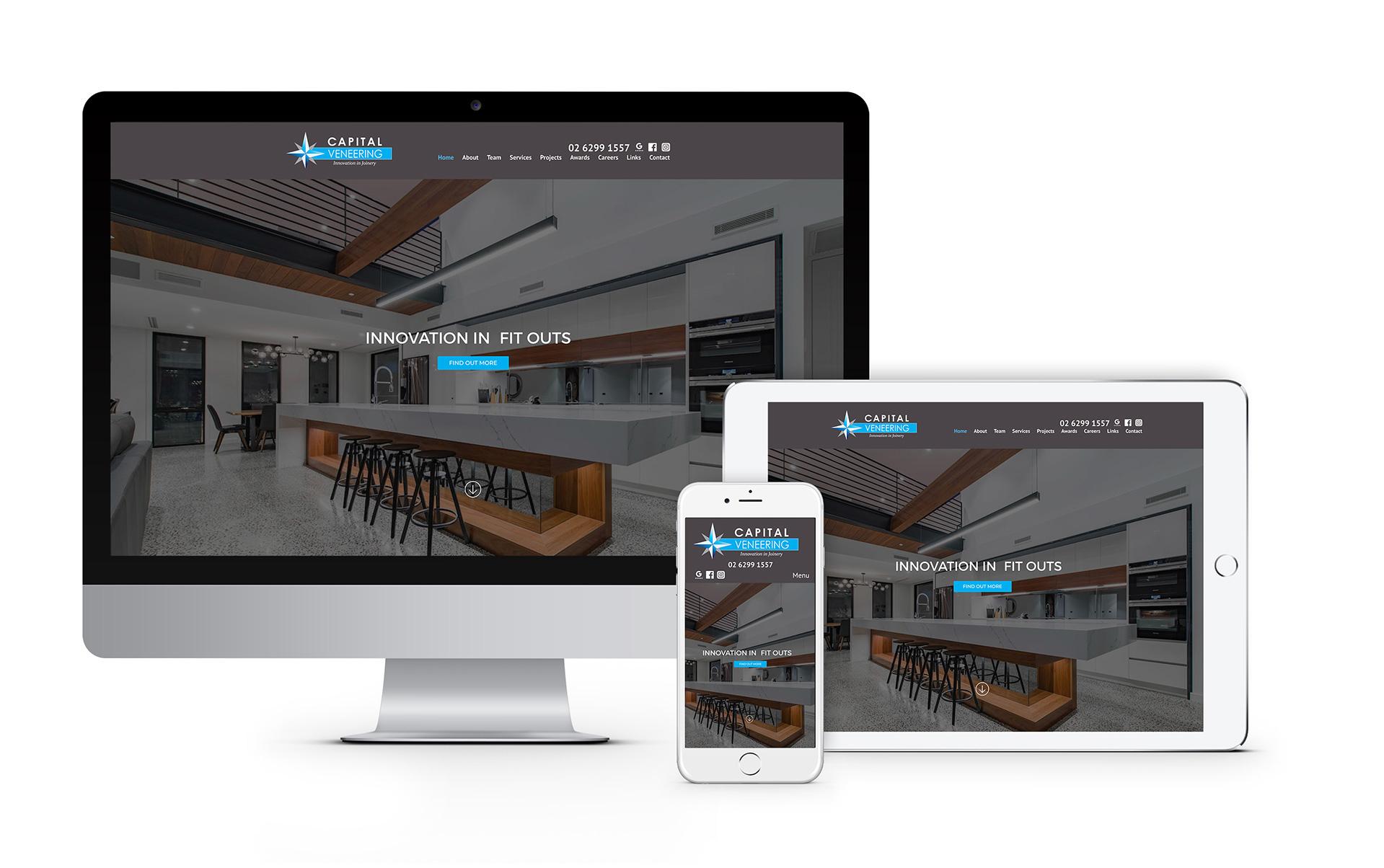 Capital Veneering Canberra Website Design 2020