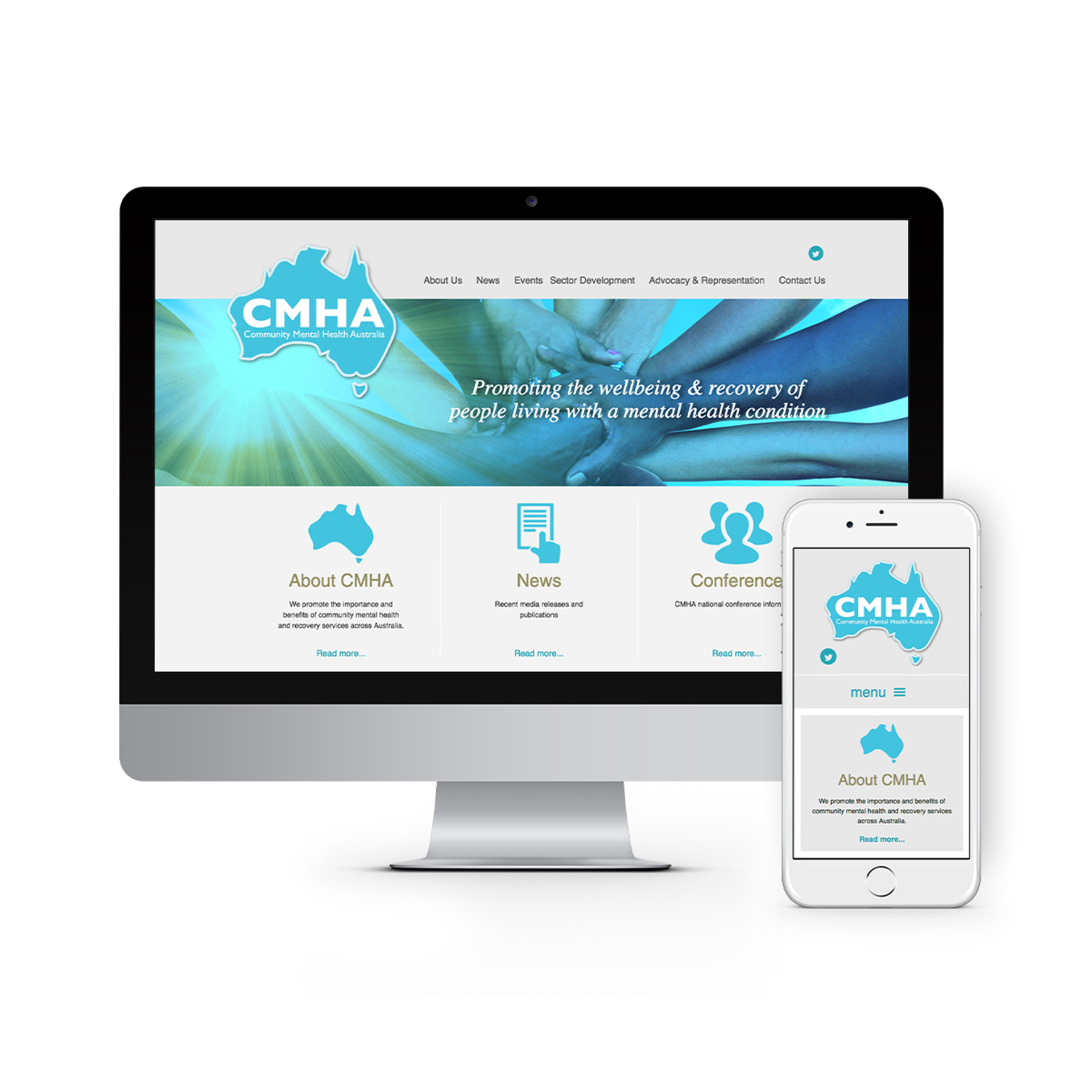 Community Mental Health Australia Website Design 2020