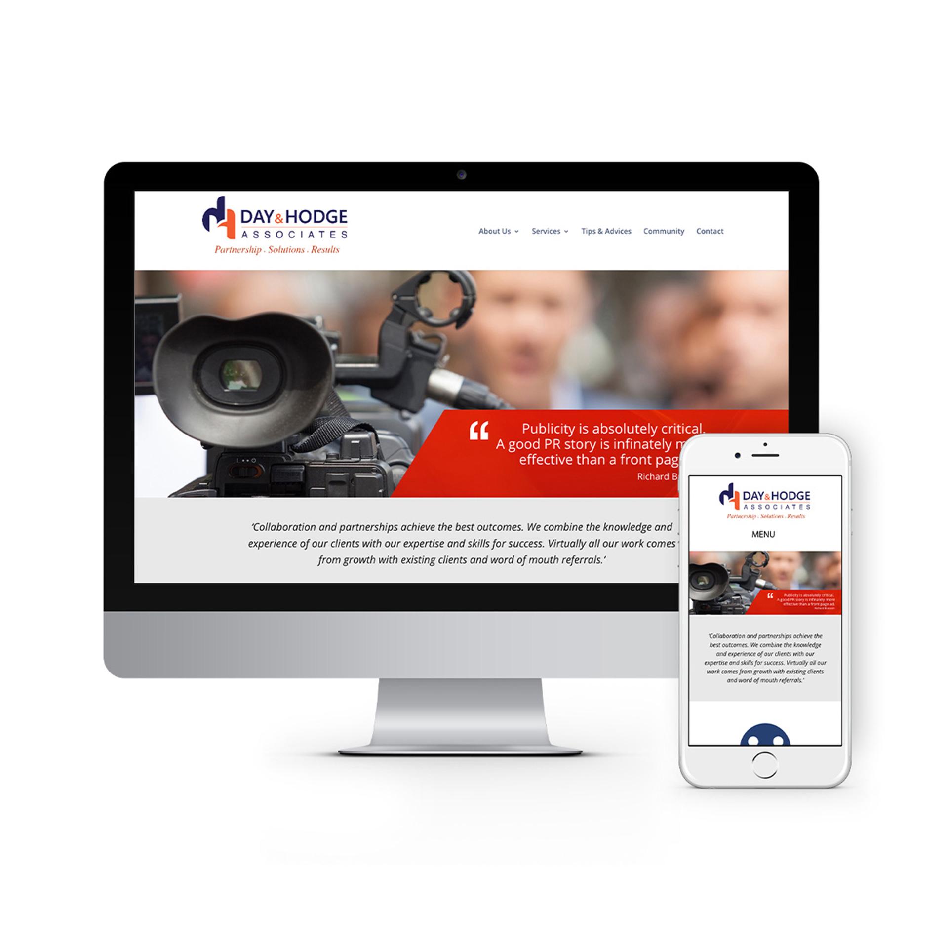 Day and Hodge Associates Website Design 2020