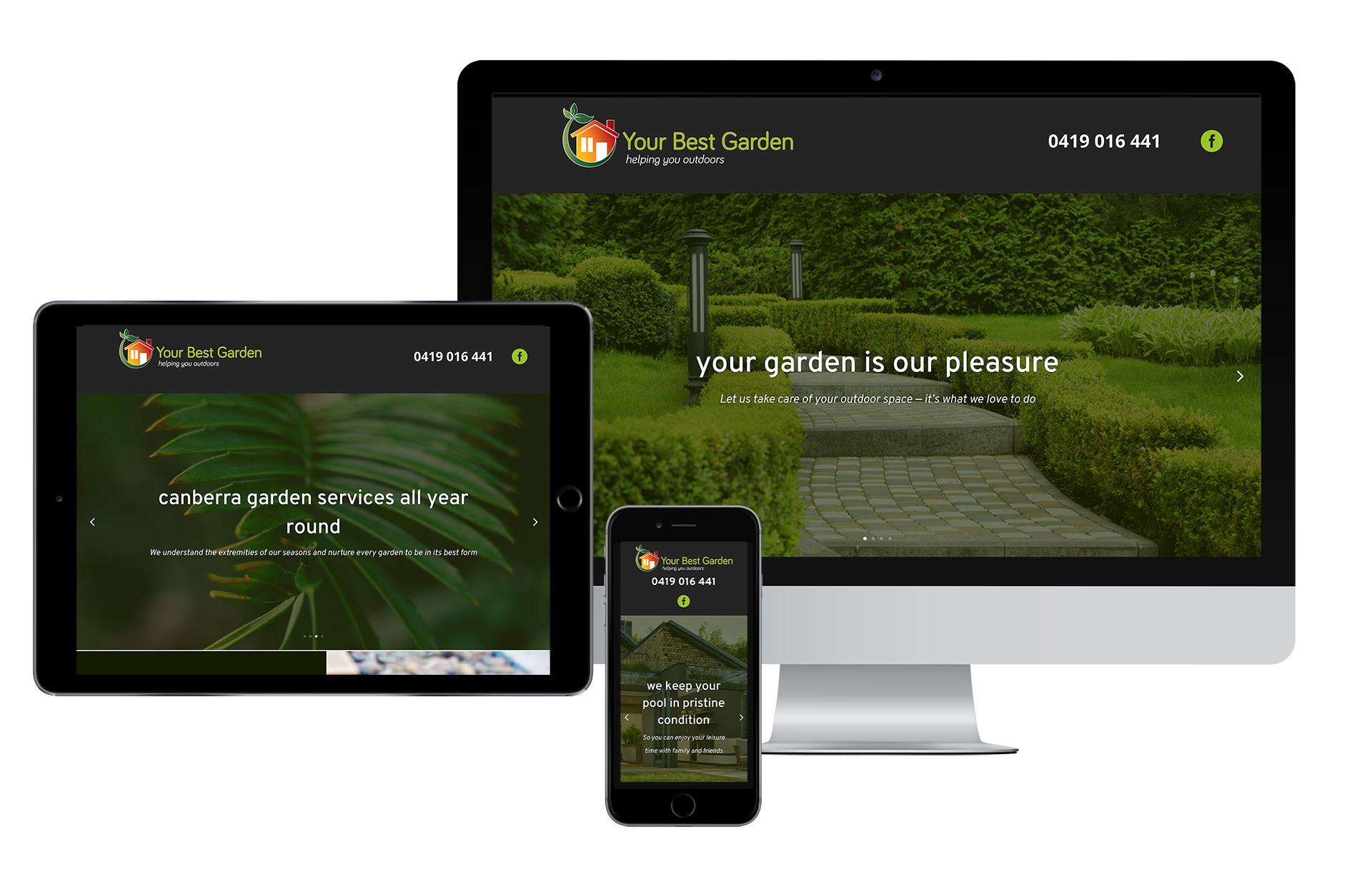 Website Design Your Best Garden 2020