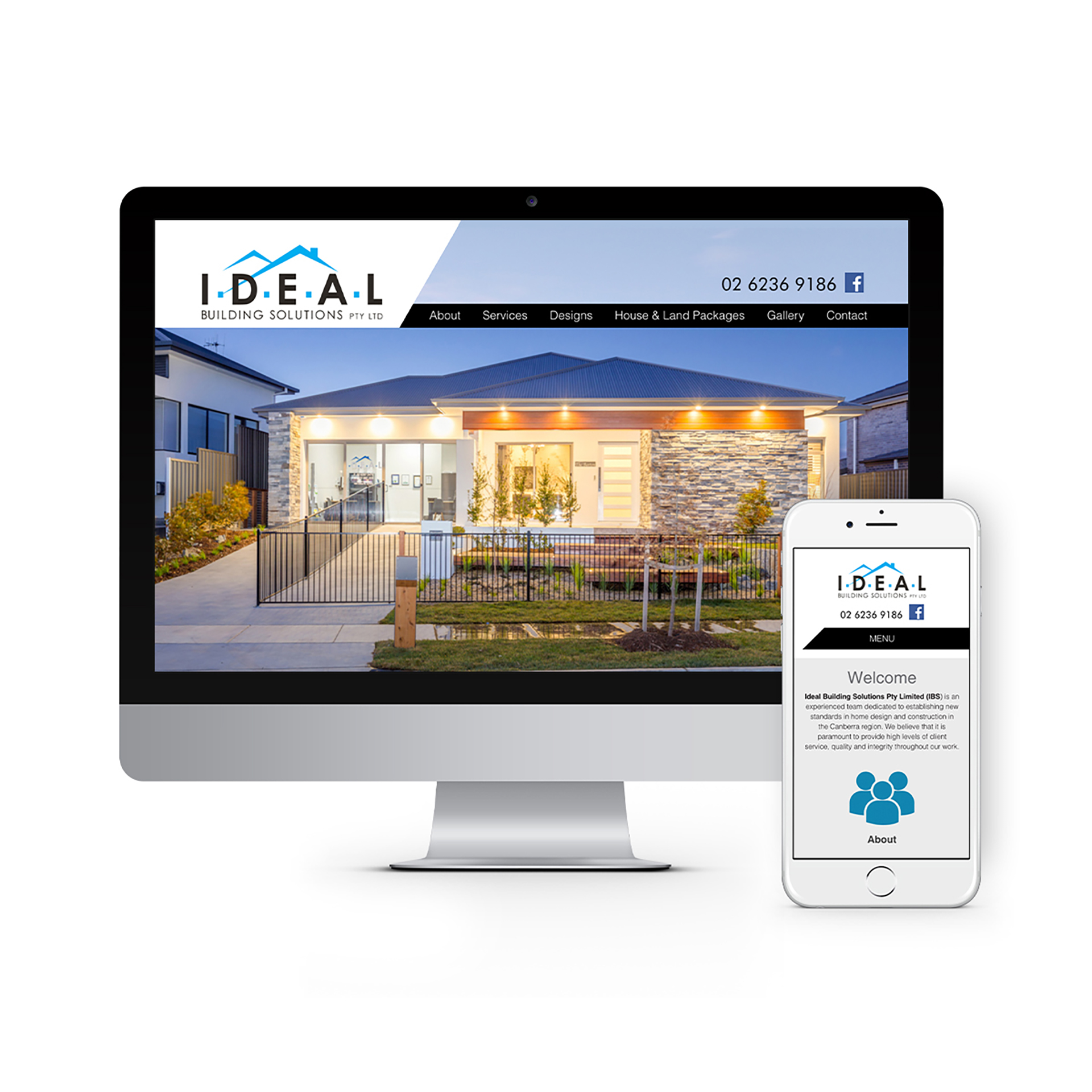 Ideal Building Solutions Canberra Website Design 2020