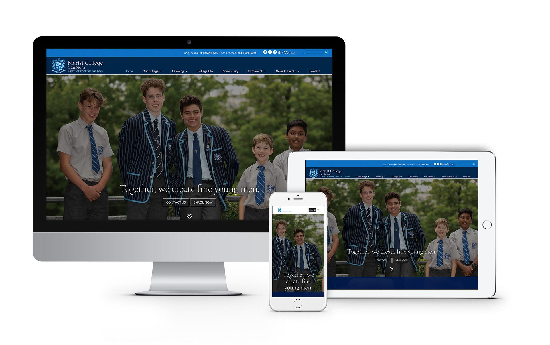 Marist College Canberra Website Designer 2020