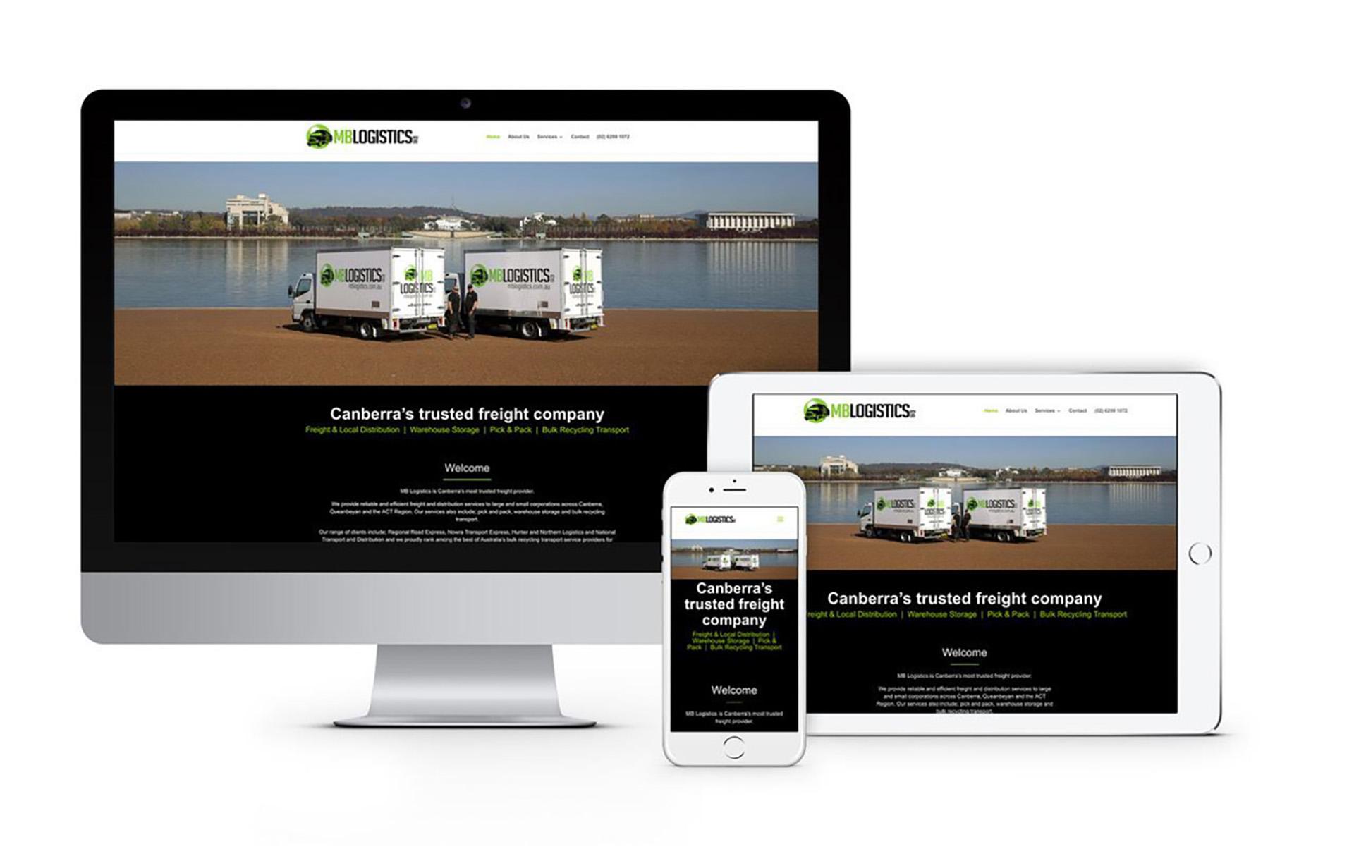 MB Logistics Canberra Website Designer 2020