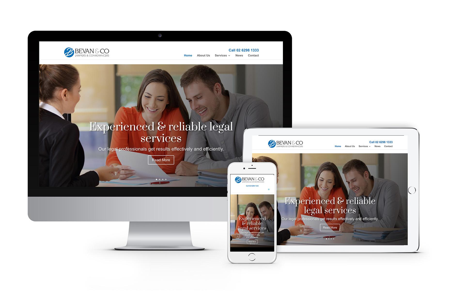 Bevan and Co Queanbeyan Lawyers Website Designed 2020