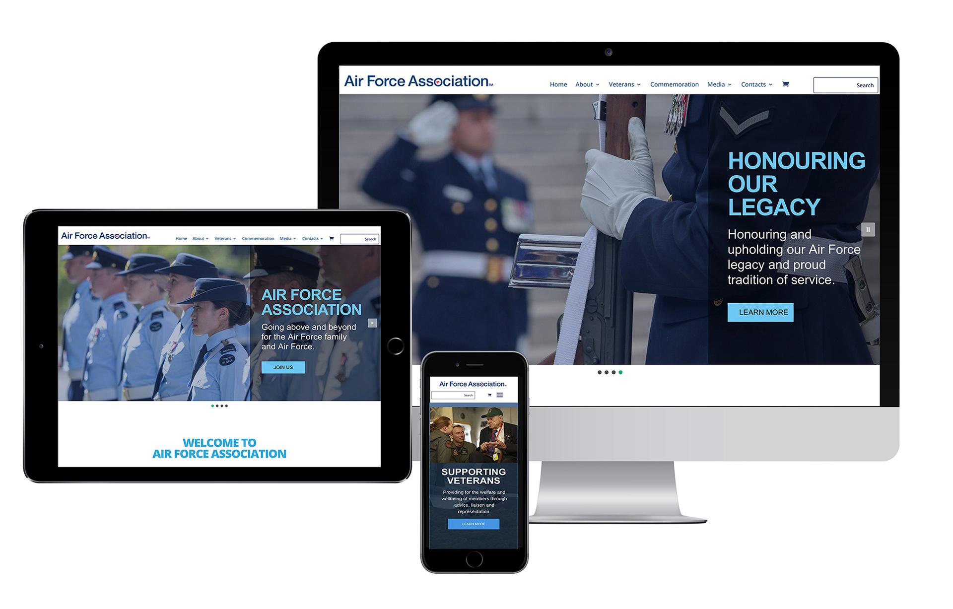 Air Force Association Australia Website Designer 2020