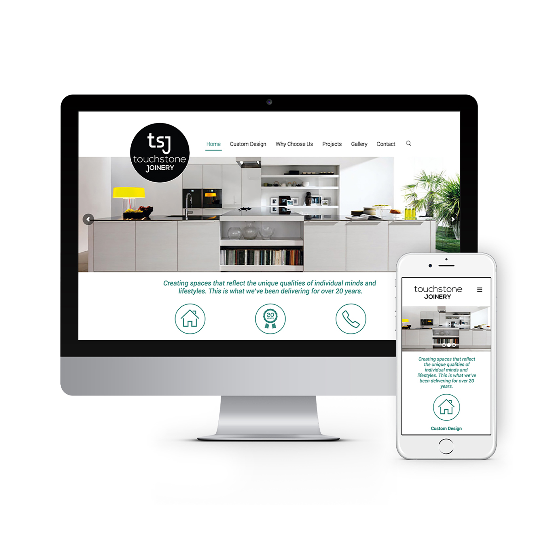 Touchstone Joinery Canberra Website Design 2020