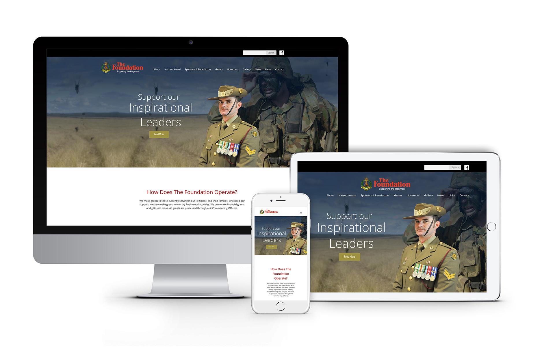 RAR Foundation Website Design 2020