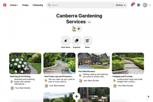 your best garden Pinterest page