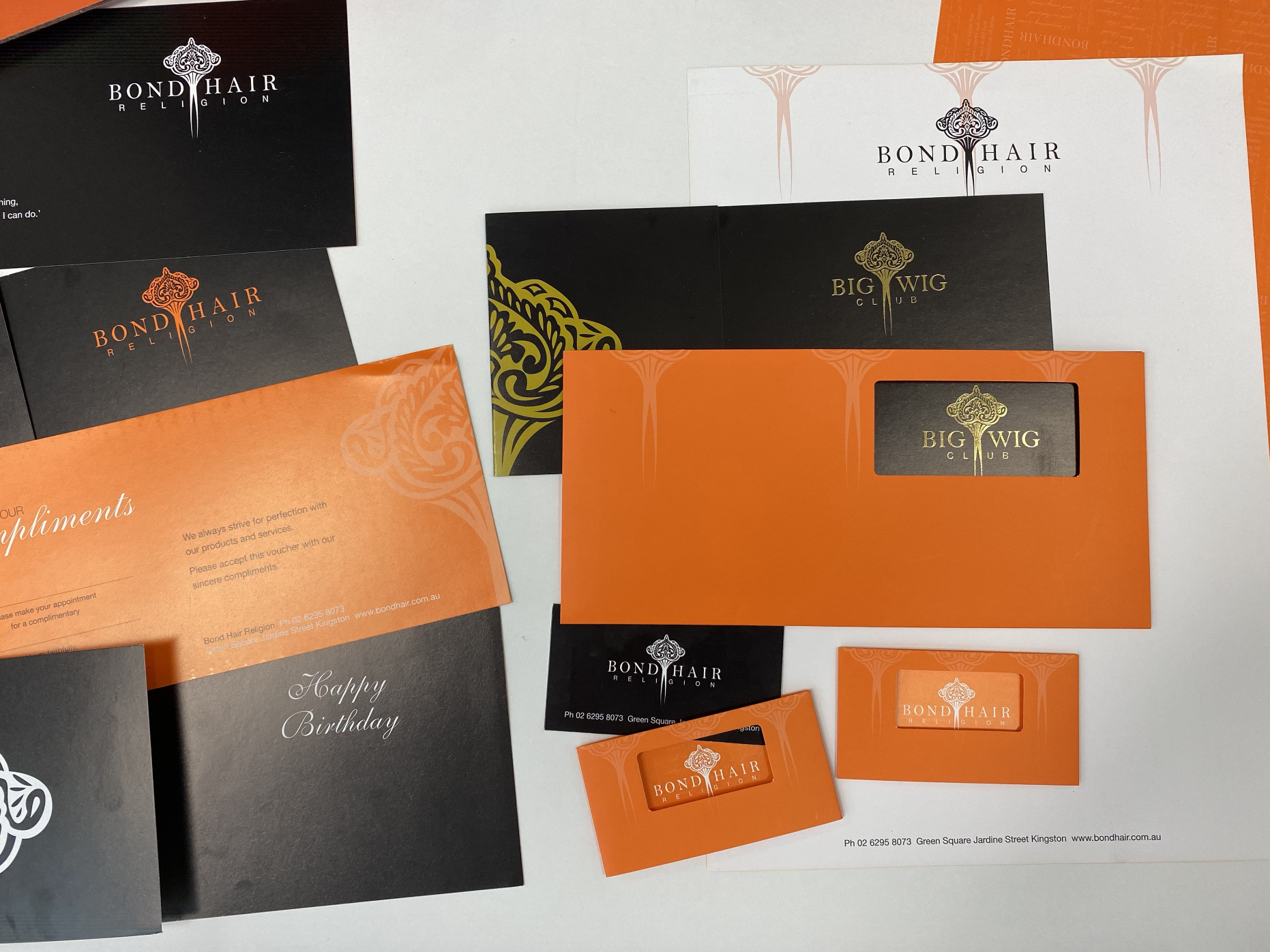 Bond Hair Religion Promotional Print Items