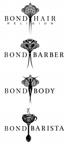 Bond Hair Religion Logo Suite