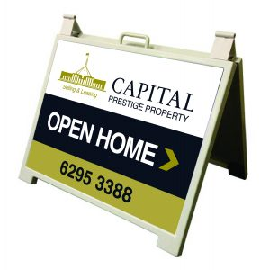 Open house signage for capital prestige property