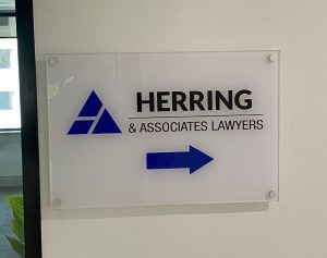 Herring and Associates Office Signage 2020